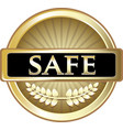 safe gold icon vector image vector image
