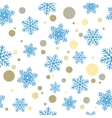 Seamless Christmas backgroundBlue snowflakes and vector image