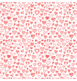 seamless pattern of hand drawn hearts vector image