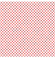 seamless red heart background pattern vector image vector image