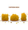 set isolated orange dry autumn bushes vector image vector image