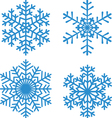 set of 4 snowflakes vector image vector image