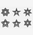 set star icon black star on gray background vector image