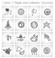 set with mystic and esoteric icons and symbols vector image