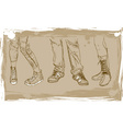 Sketch of Shoes vector image vector image