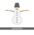 snowman isolated on white vector image vector image