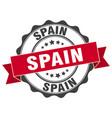 spain round ribbon seal vector image