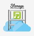 storage center design vector image vector image