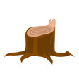 stump with roots cartoon vector image vector image