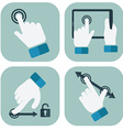 Touch Screen hand Gesture Collection vector image