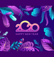 tropical calendar 2020 vector image vector image