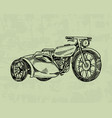 vintage motorcycle retro bicycle extreme biker vector image vector image