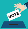 Vote ballot with box vector image