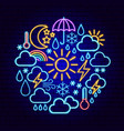 weather neon concept vector image vector image