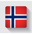 Web button with flag of Norway vector image