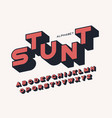styled sans serif bold letters with long shadow vector image