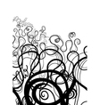 Black and White Abstract Swirl vector image