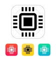 Mini CPU icon vector image