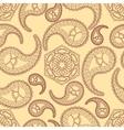 Vintage seamless paisley pattern vector image