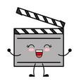 cinema clapboard icon vector image