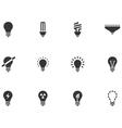 12 Lightbulb Icons vector image