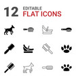 12 puppy icons vector image vector image