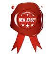 a product of new jersey vector image vector image