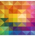 Abstract vibrant triangles background vector image