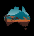 Australia travel design template vector image vector image