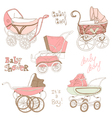 Baby carriage set vector | Price: 1 Credit (USD $1)