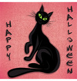 Black cat halloween holiday vector image