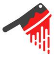 blood butchery knife flat icon symbol vector image vector image