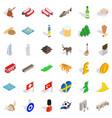 british flag icons set isometric style vector image vector image