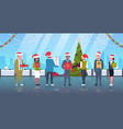 business people celebrating corporate party mix vector image vector image