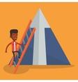 Businessman climbing on mountain vector image vector image