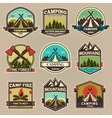 Camp label vector image vector image
