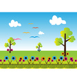 Cartoon landscape background vector image