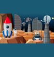 city in space scene vector image vector image