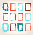 collection of hand drawn rectangle frames vector image vector image