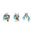 cute owl pictures set of owls vector image