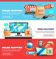 e-commerce banners collection vector image vector image