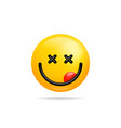 emoji smile icon symbol smiley face yellow vector image