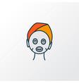 face mask icon colored line symbol premium vector image