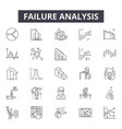 failure analysis line icons signs set vector image vector image