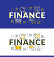 finance flat line concept for web banner and vector image