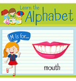 Flashcard letter M is for mouth vector image vector image