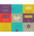 Flat abstract ui template vector image vector image