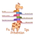 Flu Prevention Tips with giraffe vector image