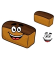 Freshly baled smiling loaf of brown bread vector image vector image