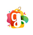 g letter logo with sale tag icon watercolor vector image vector image